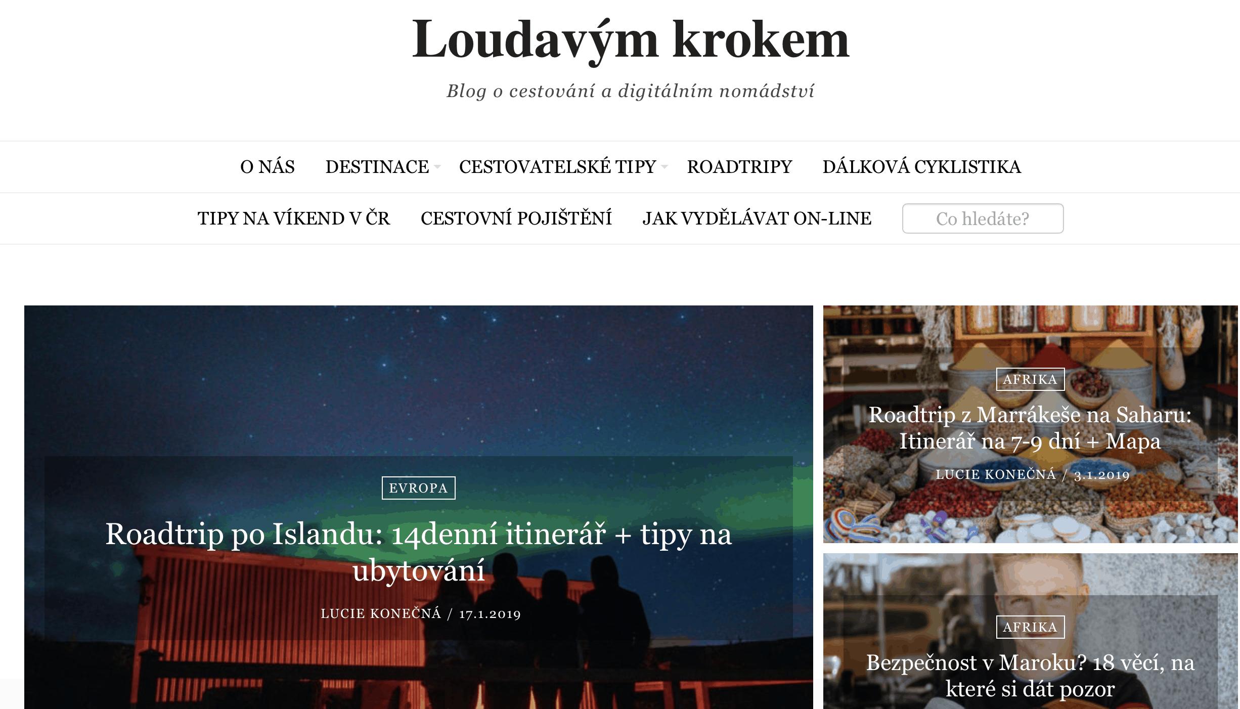 Náš cestovatelský blog - Loudavým krokem